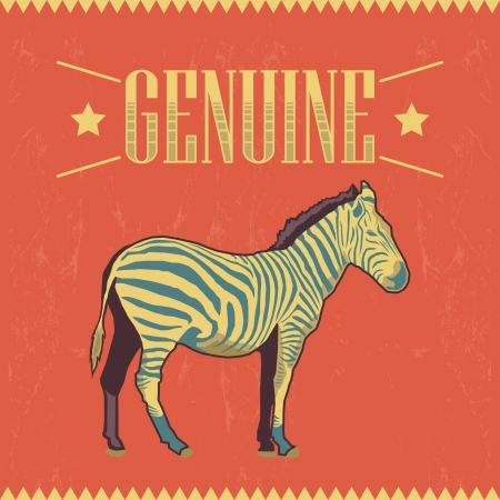 postcard: Genuine Zebra label - card