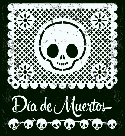 Dia de ムエルトス - 死のスペイン語文字ベクトル装飾のメキシコ日 - レタリング  イラスト・ベクター素材