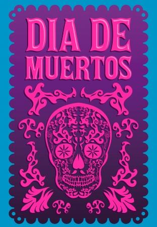 Dia de Muertos - Mexicaanse Dag van de dood Spaanse tekst vector decoratie - belettering