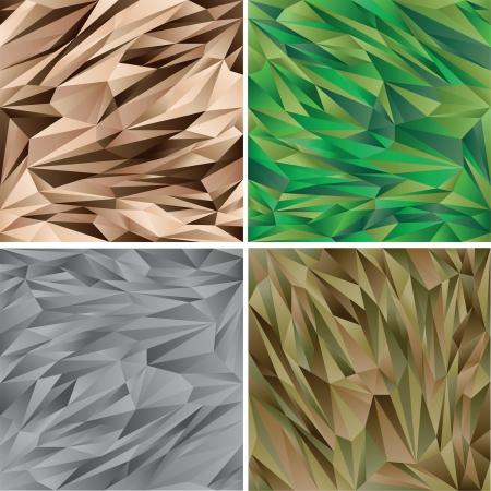 デジタル迷彩パターン セット - ベクトル コレクション - ウッドランド - 砂漠 - 都市