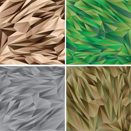 vietnam war: Digital Camouflage pattern set - vector collection -  Woodland - desert - urban  Illustration