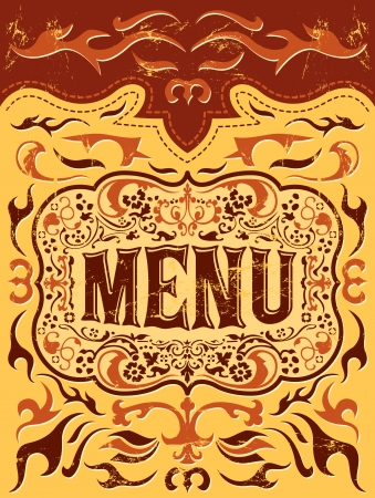 vector Restaurant menu design - western style Vector