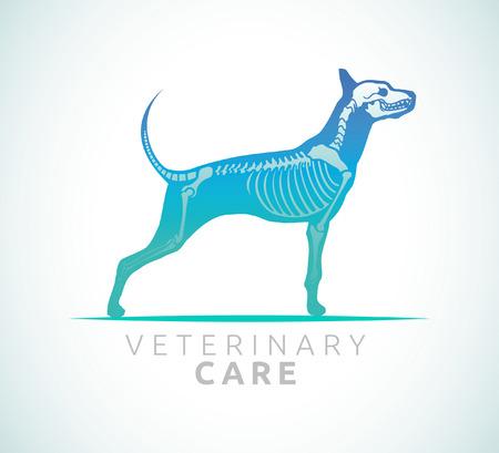 Veterinaire verzorging - hond zorg Stock Illustratie