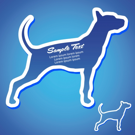 Dog Silhouette Vector Peeling Sticker