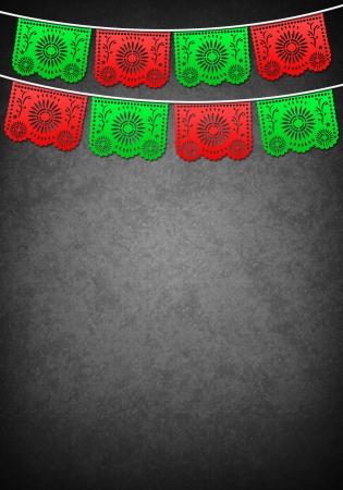 independencia: Decoraci�n mexicana plantilla del cartel - espacio de la copia