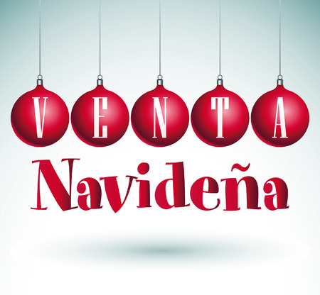 Venta Navidena - Christmas sale spanish text - vector