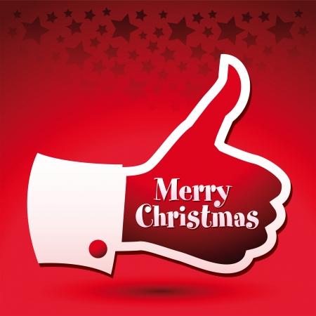 raise the thumb: Merry Christmas thumbs up