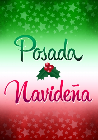 freehand tradition: Posada Navidena - Christmas Lodging spanish text -Posadas is a nine-day celebration in december - Mexican traditional christmas celebration