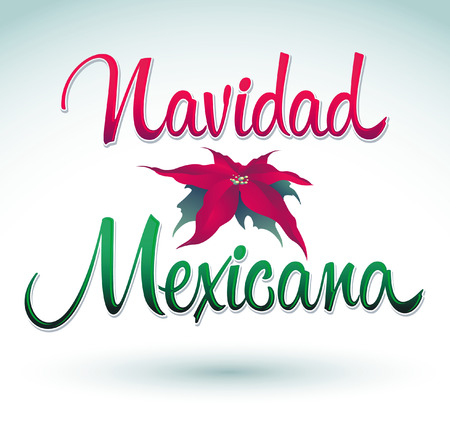 holyday: Navidad Mexicana - mexican christmas spanish text - Vector Calligraphic Lettering