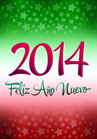spanish language: 2014 Feliz Ano Nuevo - Happy new year in spanish language