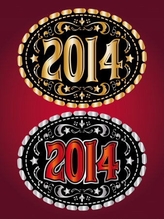 buckle: 2014 new year Cowboy belt buckle design  Illustration