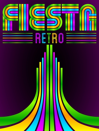 headings: Fiesta - vector poster - eighties video games style