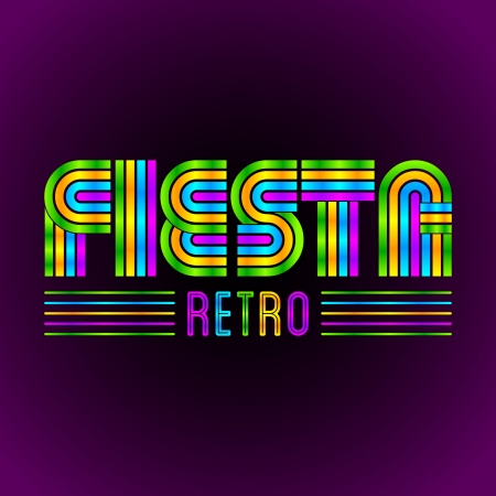 Fiesta Retro - vector lettering - eighties video games and movie style