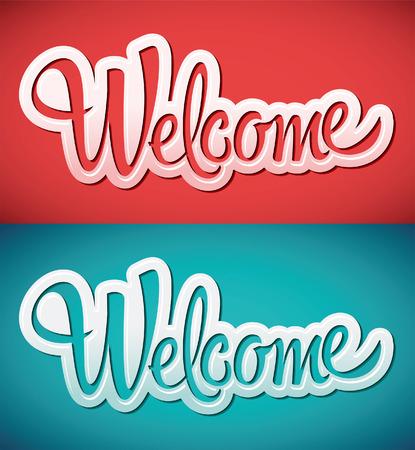 Begrüßen - Schriftzug Vektor Standard-Bild - 25986365