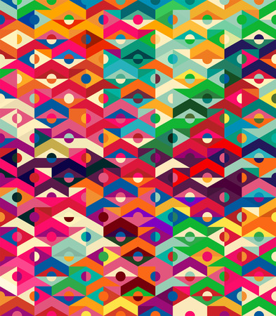 abstract art: Vector Abstract Ethnic Geometric Pattern - background