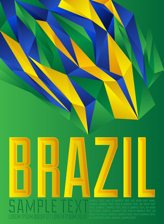 wallpaper abstract: Brazil - geometric - modern flag concept - Brazilian colors