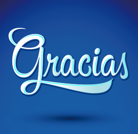 Gracias - THANK YOU spanish text - hand lettering