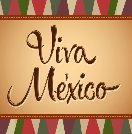 Viva Mexico - Vintage mexican holiday vector decoration