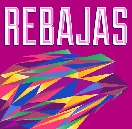 Rebajas - Sale, Discounts spanish text - vector card - poster Vector