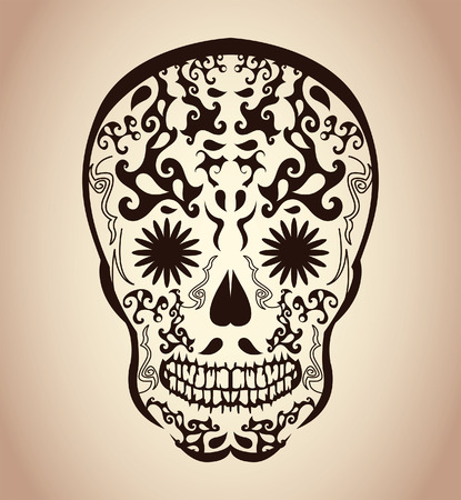 Day of the Dead Skull - tattoo skull - calavera Vector