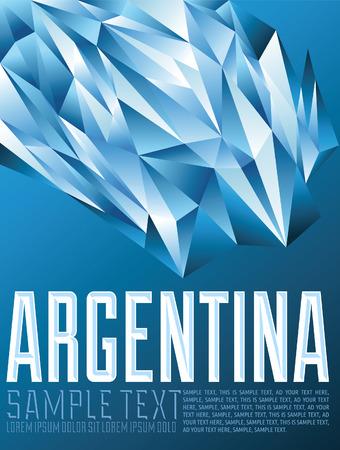 Argentina - Vector geometric background - modern flag concept - argentina colors