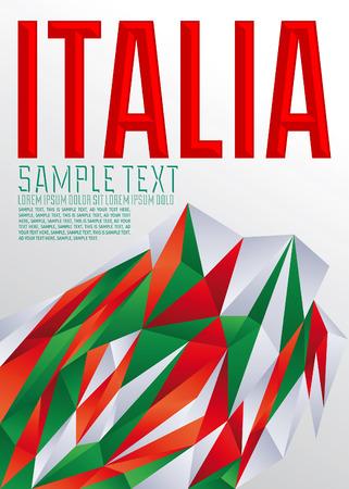 italia: Italia - Italian Vector geometric background - modern flag concept - Italy colors