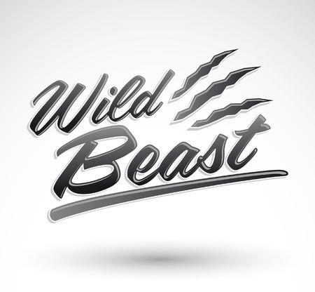 野生の獣 - ベクトル文字アイコン - デザイン