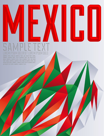 Mexico - Vector geometric background - modern flag concept - Mexican colors Vector
