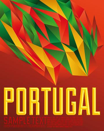 Portugal - Vector geometrische achtergrond - moderne vlag concept - Portugese kleuren Stock Illustratie