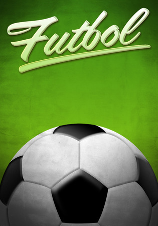 futbol soccer: Futbol - Soccer - Football spanish text - background texture