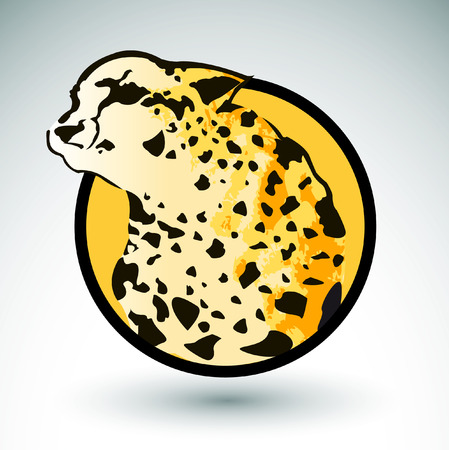 Leopard Vector badge - icon - emblem Vector