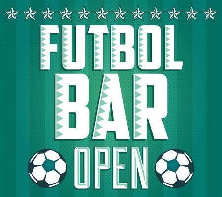 Football - Sports Bar Menu card design template Illustration