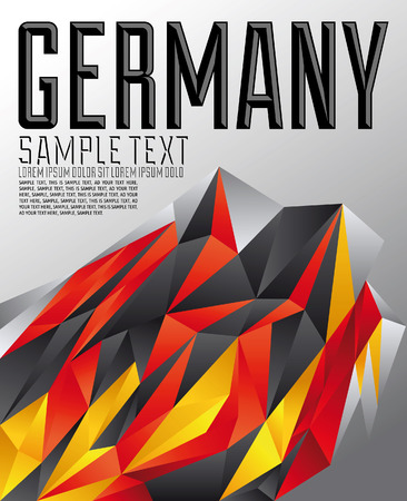 Germany - Vector geometric background - modern flag concept - Germany colors Ilustrace