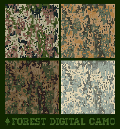 Forest - Seamless vector digital Camouflage collection Vector