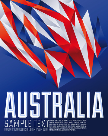 sydney australia: Australia - Vector geometric background - modern flag concept - Australia colors