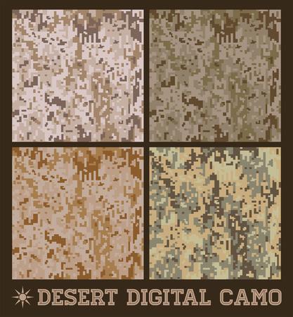 砂漠 - シームレスなベクトル デジタル迷彩コレクション  イラスト・ベクター素材