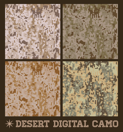 Desert - Seamless vector digitale Camouflage collectie Stock Illustratie