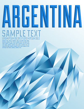 buenos aires: Argentina - Vector geometric background - modern flag concept - argentina colors