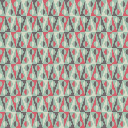 Seamless geometric pattern in vintage pastel tints Vector