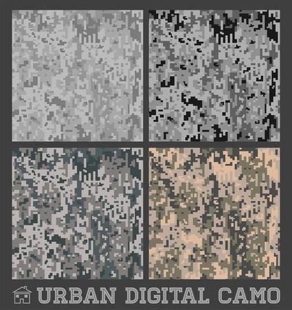 都市 - シームレスなベクトル デジタル迷彩コレクション