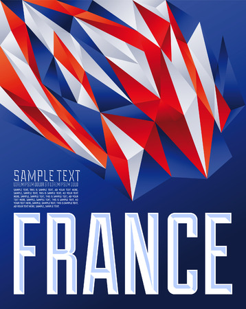 toulouse: france - Vector geometric background - modern flag concept - France flag colors
