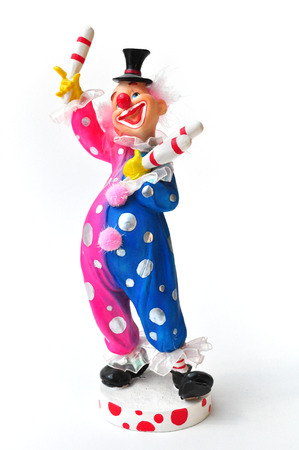 Juggler Clown figurine  over white background photo