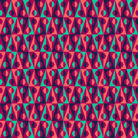 textiles: Seamless abstract pattern with triangles, Can be used in textiles, for book design, website background  Illustration