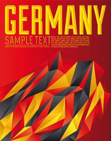 Germany - Vector geometric background - modern flag concept - German colors Vector