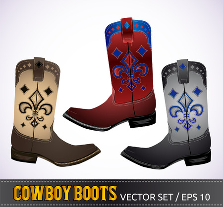 Cowboy Boots - detailed illustration  Vector