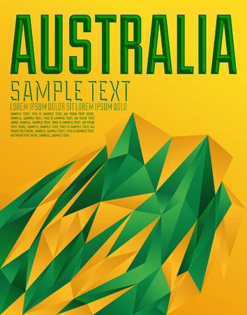 Australia - Vector geometric background