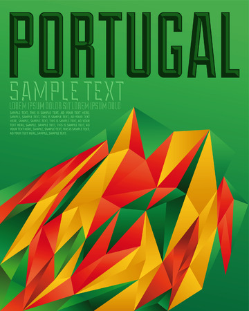Portugal - Vector geometric background - modern flag concept - Portuguese colors 矢量图像