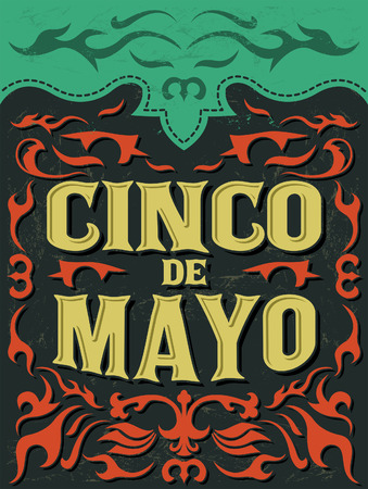 Cinco de mayo - mexican holiday vector poster - grunge effects can be easily removed Vector