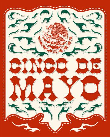 president of mexico: Cinco de mayo - mexican holiday vector poster - card template