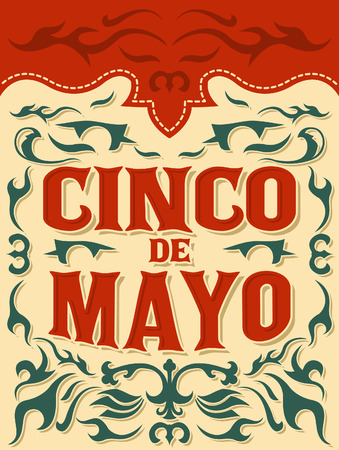 Cinco de mayo - traditional mexican holiday - vector poster, card template
